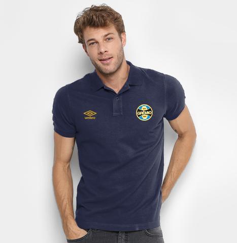 Imagem de Camisa Polo Grêmio Exclusiva 100% Bordada
