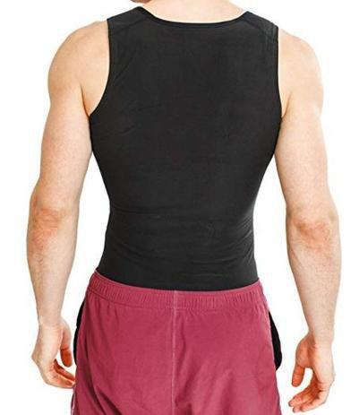 Imagem de Camisa Regata Térmica Modeladora Gordura Cinta Abdominal Seca Masculina