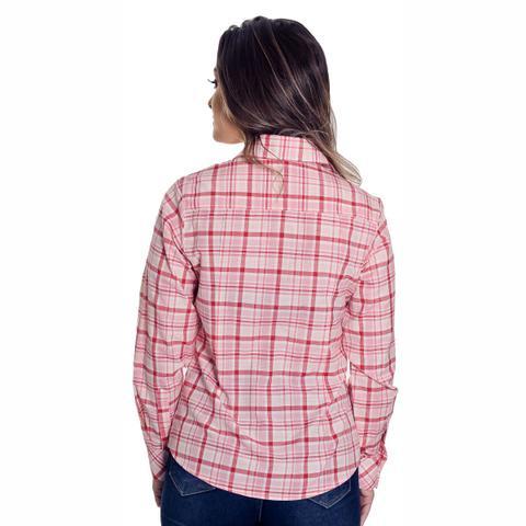 ff08c7ad2 Camisa Social Xadrez Feminina Beatriz - Pimenta Rosada - Vestuário ...