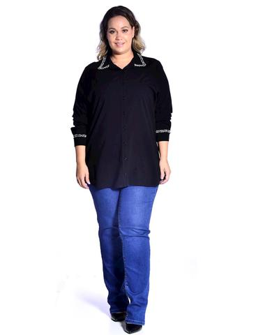 Imagem de Camisa special viscose c/elastano detalhe tweed