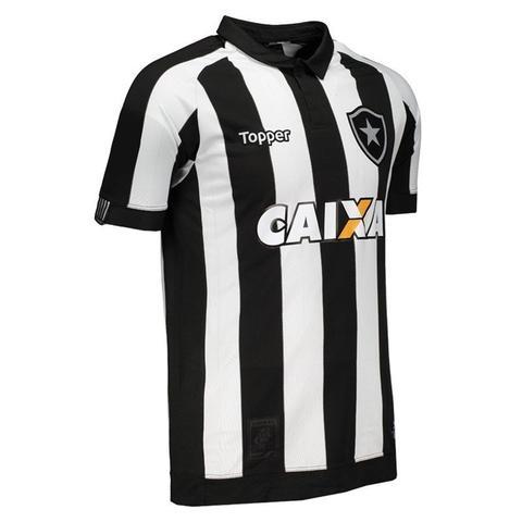 Camisa Topper Botafogo I 2017 Patrocínio 4200982 - Camisa de Time ... ef49da986e553