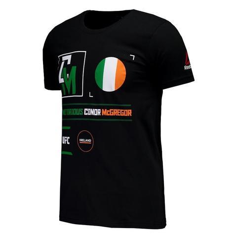 Imagem de Camisa Ufc Conor Mc Gregor Irlanda Reebok Preta