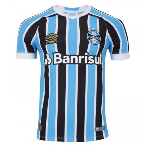 Imagem de Camisa Umbro Masculina Grêmio Oficial 1 2018 (FAN PAT S/N)