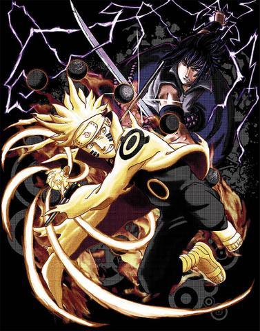 Imagem de Camiseta Anime Naruto Vs Sasuke (nerd / Geek) Camisa Blusa