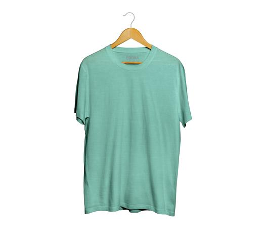 Imagem de Camiseta Básica Flamê Masculina Verde Água
