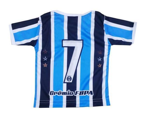 Imagem de Camiseta Bebê Grêmio Listrada Dry Gola V Oficial