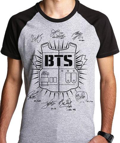 Imagem de Camiseta Bts K-pop Nomes (nerd Geek) Camisa Blusa