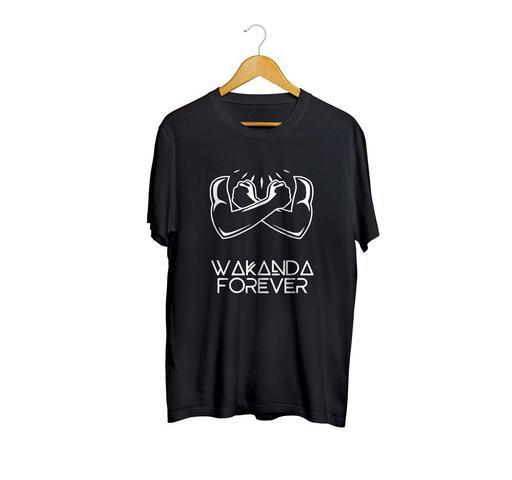 Imagem de Camiseta Camisa Wakanda Forever Clássico Vingadores Masculino Preto