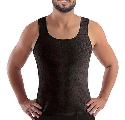 Imagem de Camiseta Cinta Regata Queima Gorduras Barriga Abdômen Caminhada Sauna Corrida