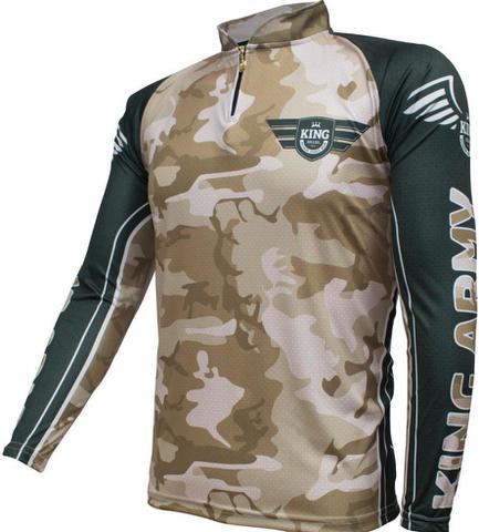 Imagem de Camiseta De Pesca King Proteção Solar Uv KFF301 - Army