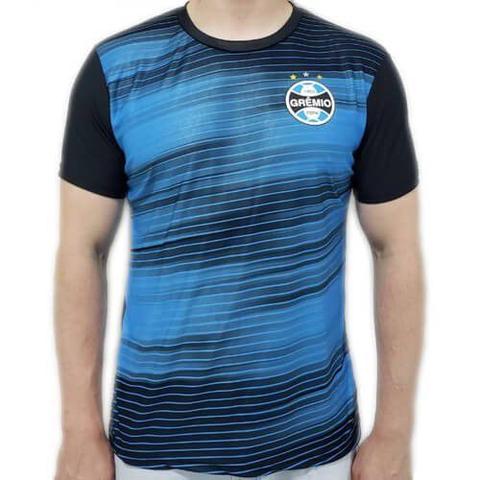 Imagem de Camiseta Grêmio Dry Speed Masculina - Preta e Azul