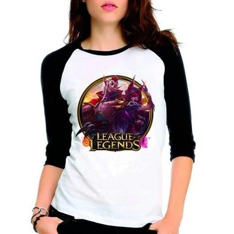 Imagem de Camiseta League Of Legends Xayah Rakan Raglan Babylook 3/4