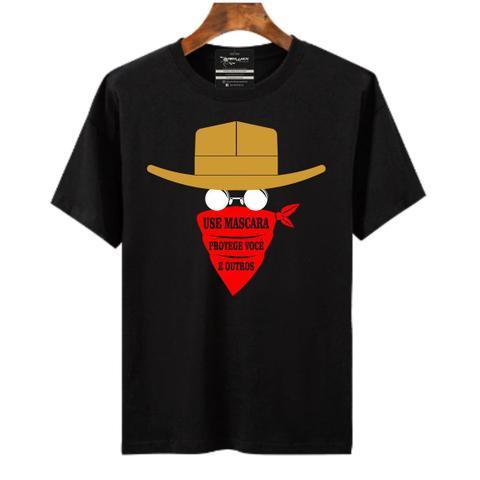 Imagem de Camiseta masculina use mascara protege você e outros