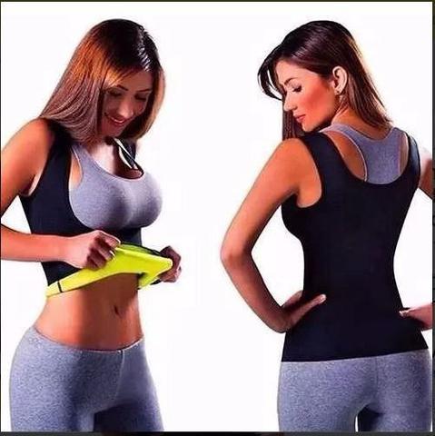 Imagem de Camiseta Modeladora Abdominal Hot Regata Redutora de Medidas Shapers Neoprene