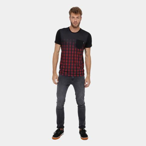 Imagem de Camiseta Okdok Classic Xadrez C/ Bolso Masculina