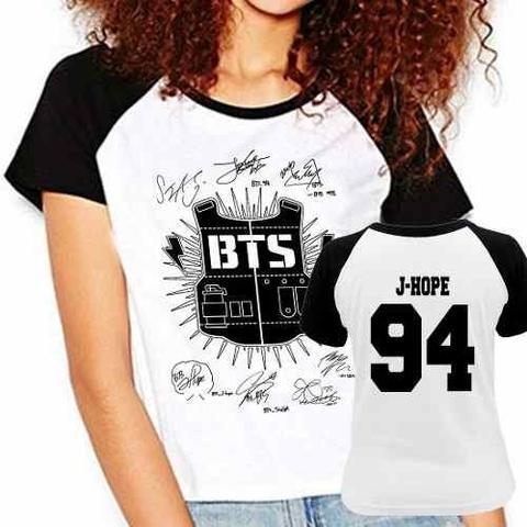 Imagem de Camiseta Raglan Babylook Kpop Bts Bangtan Boys J-hope 94