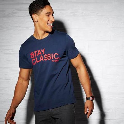 Imagem de Camiseta Reebok Stay Classic Estilo Retrô Urban Wear Br8600
