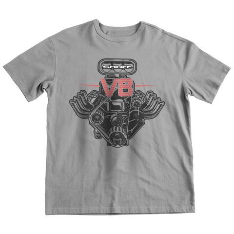 Imagem de Camiseta Shutt Motor V8 Casual Cinza Estampa Preta e Vermelha f1f17342c3c56
