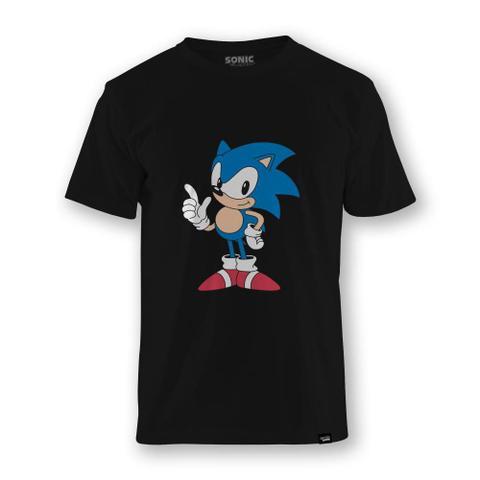 Imagem de Camiseta Sonic The Hedgehog Classic Position  Bf  Preta - Tamanho G