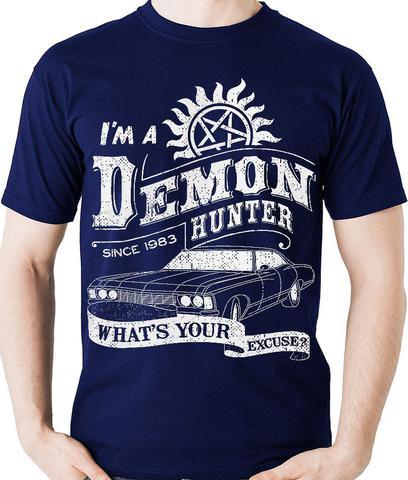 Imagem de Camiseta Supernatural Hunter Sobrenatural Geek Camisa Blusa