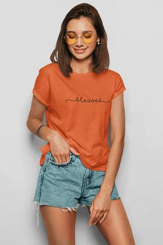 Imagem de Camiseta T-shirt Feminina Blessed Caramelo T-Ros Clothing