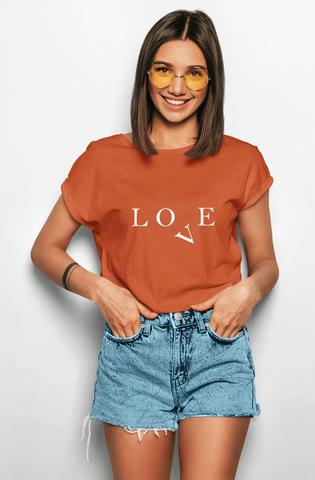 Imagem de Camiseta T-shirt Feminina Love Caramelo T-Ros Clothing