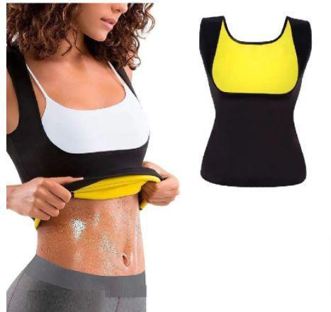 Imagem de Camiseta Térmica Regata Queima Gorduras Barriga Sauna Cinta Modeladora Sauna Feminina