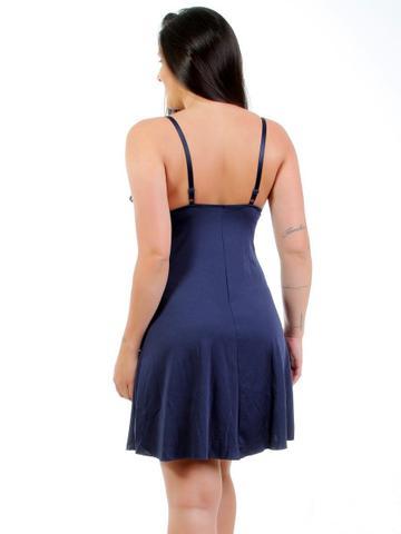Imagem de Camisola Sex Moda Íntima Com Calcinha Fio marinho