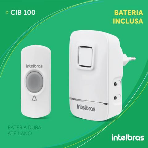 Imagem de Campainha Sem Fio Com Bateria Intelbras Alcance de até 100 metros CIB 100