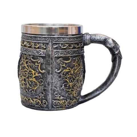 Imagem de Caneca Caveira Capacete Medieval 450 ml Crânio Cerveja