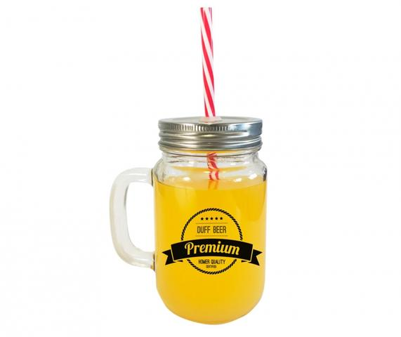 Imagem de Caneca de vidro com canudo Simpson Duff Beer 420 ml