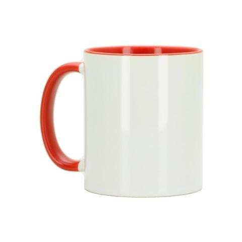 Imagem de Caneca Para Sublimação com Alça e Interior Vermelho