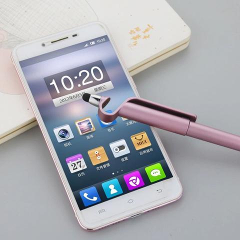 Imagem de Canetas Touch Universal 3 Unidades C/ Suporte P/celular iPad