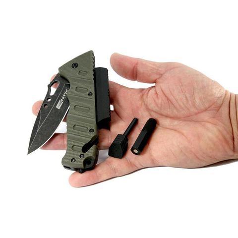 Imagem de Canivete Tático Com Perdeneira E Lanterna Borlov Nautika