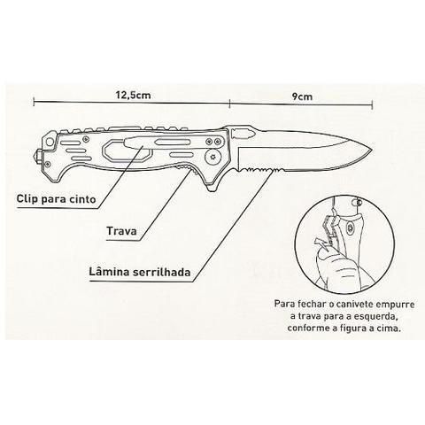 Imagem de Canivete Tático Tauê Zebu Militar Premium