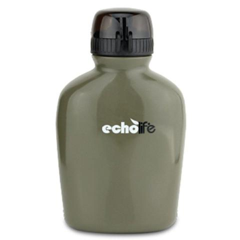 Imagem de Cantil com Purificador de Água Verde Oliva 900ml em Plástico Echolife
