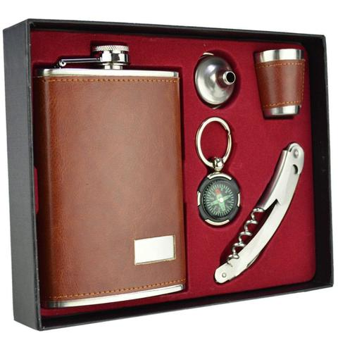 Imagem de Cantil De Bolso Porta Bebida Whisky Bússola CBRN09039