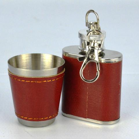 Imagem de Cantil De Bolso Porta Bebida Whisky Mini Cantil CBRN13630