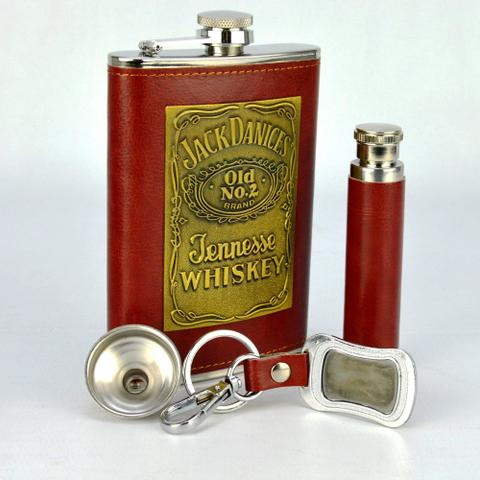 Imagem de Cantil De Bolso Porta Bebida Whisky Mini Garrafa CBRN13647