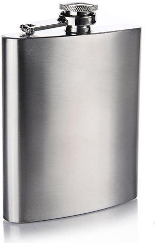 Imagem de Cantil De Bolso Porta Bebidas Flask Inox 8oz Wisky Vodka 237ml