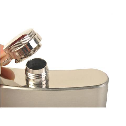 Imagem de Cantil Porta Bebida De Bolso Inox 237ml 8oz