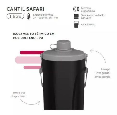Imagem de Cantil Térmico Safari 1 Litro Garrafa Água Pesca - Soprano