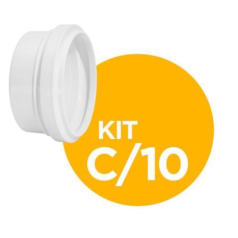 Imagem de Cap De Esgoto DN40 Plastubos Kit com 10