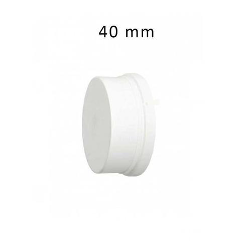 Imagem de Cap para Tubo Esgoto Tampão de cano PVC Branco DN 40 mm Plastilit