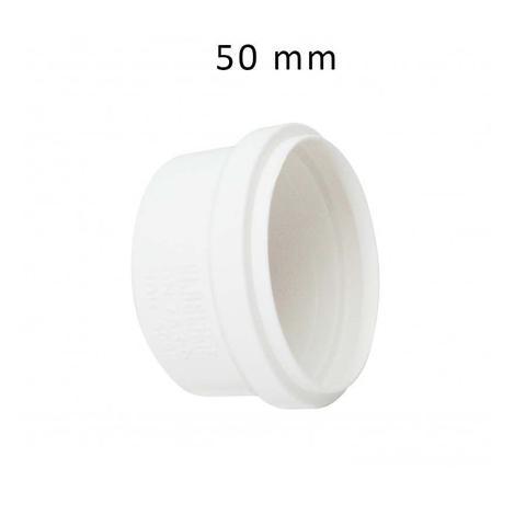 Imagem de Cap para Tubo Esgoto Tampão de cano PVC Branco DN 50 mm Plastilit