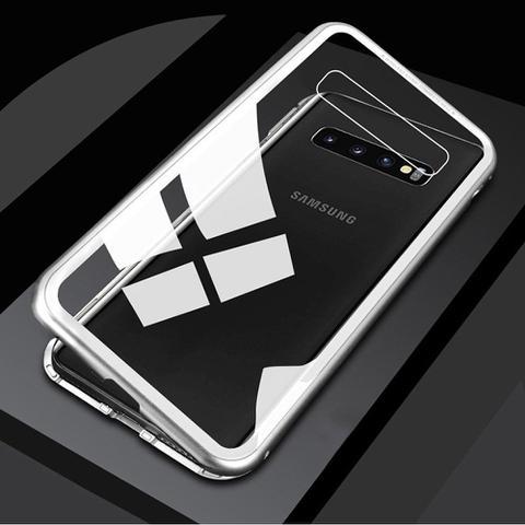 Imagem de Capa 360 Preta Bumper Magnética Imã Samsung Galaxy S10E 5.8 Polegadas