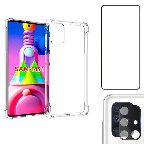 Imagem de Capa Anti Shock Galaxy M51 + Película 3D + Película Câmera