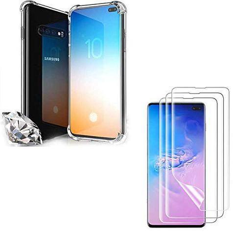 Imagem de Capa Anti Shock Impactos Samsung Galaxy S10 Plus + 2x Películas de Nano Gel Transparentes
