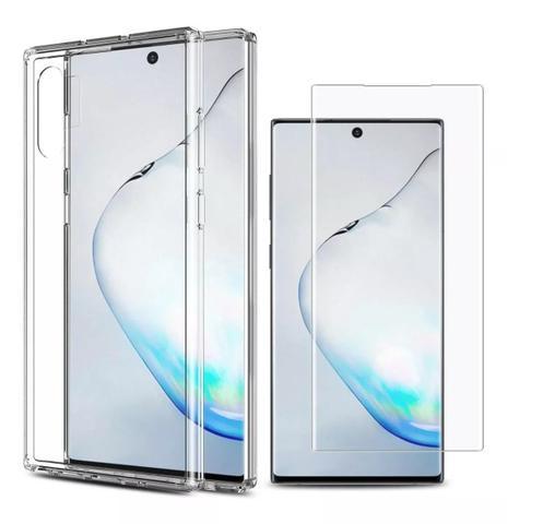 Imagem de Capa Anti Shock Reforçada nas Laterais Samsung Galaxy Note 10+ Plus N975 + Película de gel Frontal
