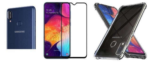 Imagem de Capa Antishock Reforçada Samsung Galaxy A10S + 01 Película De Gel + 01 Película Da Lente, Acompanha Kit Sachê